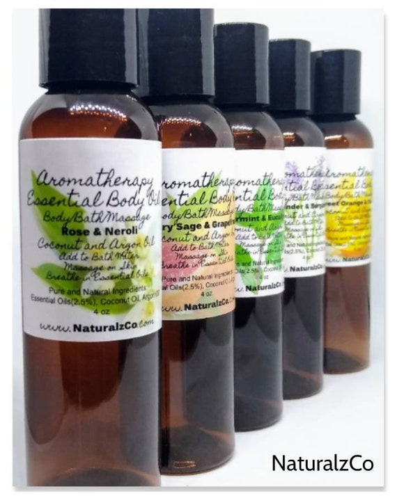 Bath and Body Oil   Choose Scent   Relaxing Oil   Skin Care   Essential Oil   Aromatherapy Bath   Natural and Pure   NaturalzCo
