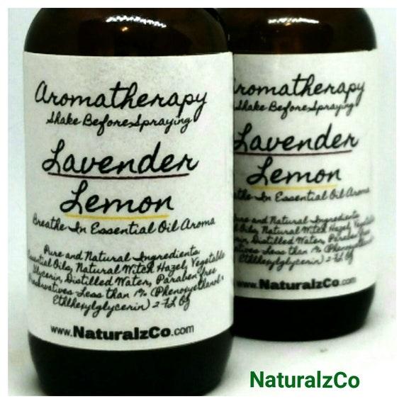 Lavender Lemon Spray   Aromatherapy Spray   Room Spray   Linen Spray   Essential Oil Aroma   2 OZ Spray Bottle   NaturalzCo