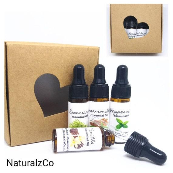 Essential Oils   Set of 4  Box Set   5 ML dropper bottles   Gift Set   Natural   Essential Oil   Fragrance Oils   Diffuser   Health   Bath