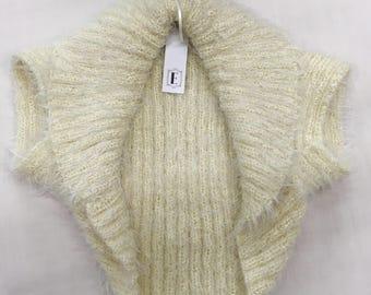 1950s Replica Hand Knitted Bolero Cream