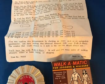 Vintage Walk-A-Matic Pedometer Joggers & Walkers in Original Box Chadwick-Miller Inc.