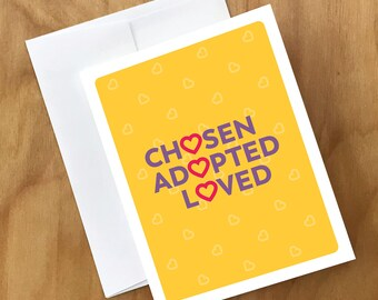 Adoption card etsy adoption card card for adoptive parents same sex or straight and pet owners too m4hsunfo