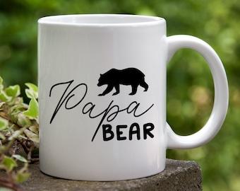 Papa Bear Ceramic Coffee Mug. Gift for Dad, Father's Day Mug, Gift for Him