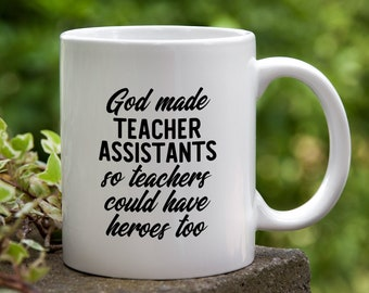 Teacher Assistant Gift TA Heroes Coffee Mug Teaching Aide Appreciation Ceramic Cup Education Assistant Christmas Present
