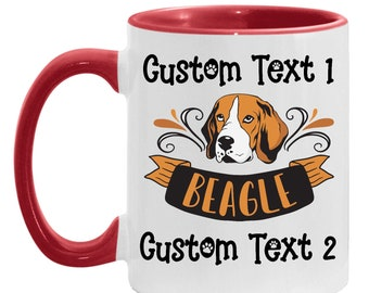 Mom Present Personalized Coffee Mug - Beagle Gift, Best Beagle Dad Custom Coffee Cup, Dog Lover, Beagle Dad, Gift for Daughter Mother's Day