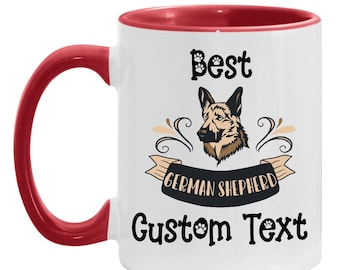 Mom Gift Personalized German Shepherd Dog Mug, Best German Shepherd Dad Custom Coffee Cup, Dog Lover Daughter, Mother's Day Gift Brew Cup