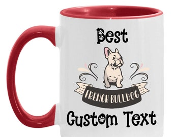 Dad Gift - French Bulldog Personalized Gift, French Bulldog Custom Text, Dog Lover, Frenchie Mom, Dog Dad, Mother's Day Present, Daughter