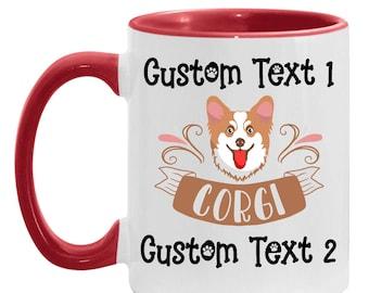 Mom Present Personalized Coffee Mug - Corgi Gift, Best Corgi Dad Custom Coffee Cup, Dog Lover, Corgi Dad, Gift for Daughter Father's Day
