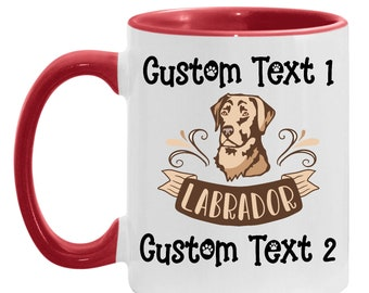 Mother's Day Present Personalized Mug - Lab Gift, Best Labrador Custom Coffee Cup, Dog Lover, Dog Mom, Gift for Daughter Father's Day Dad