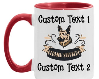 Dad Gift Personalized German Shepherd Dog Mug, Best German Shepherd Mom Custom Coffee Cup, Dog Lover Daughter, Mother's Day Gift Brew Cup