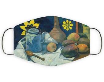Adult Face Mask Gift for Gauguin Art Lover, Double Layer Protective Mask Reusable, Washable Breathable, Post-Impressionist Art Print Present