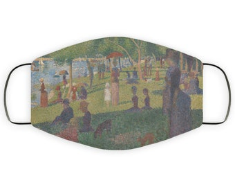 Seurat Art Lover Adult Face Mask Gift, Double Layer Protective Mask, Reusable, Washable, Breathable, Post Impressionist Pointilism for her