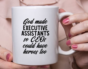 Executive Assistant Gift Coffee Mug, CEO Heroes, Personal Assistant
