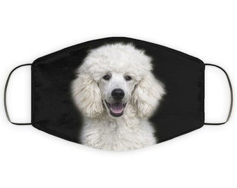 Face Mask Gift for Poodle Dog Lover, Double Layer Protective Mask for Mom, Reusable, Washable, Breathable, Print Quality Image of Pooddle