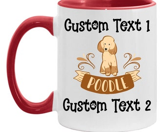 Mom Gift Personalized Coffee Mug Poodle Gift, Best Poodle Dad Custom Coffee Cup, Dog Lover, Poodle Daughter, Gift for Daughter Mother's Day