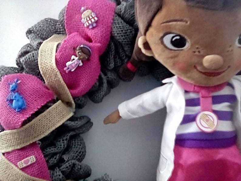 Disney Themed Wreaths Doc McStuffins with Doc McStuffins and image 0