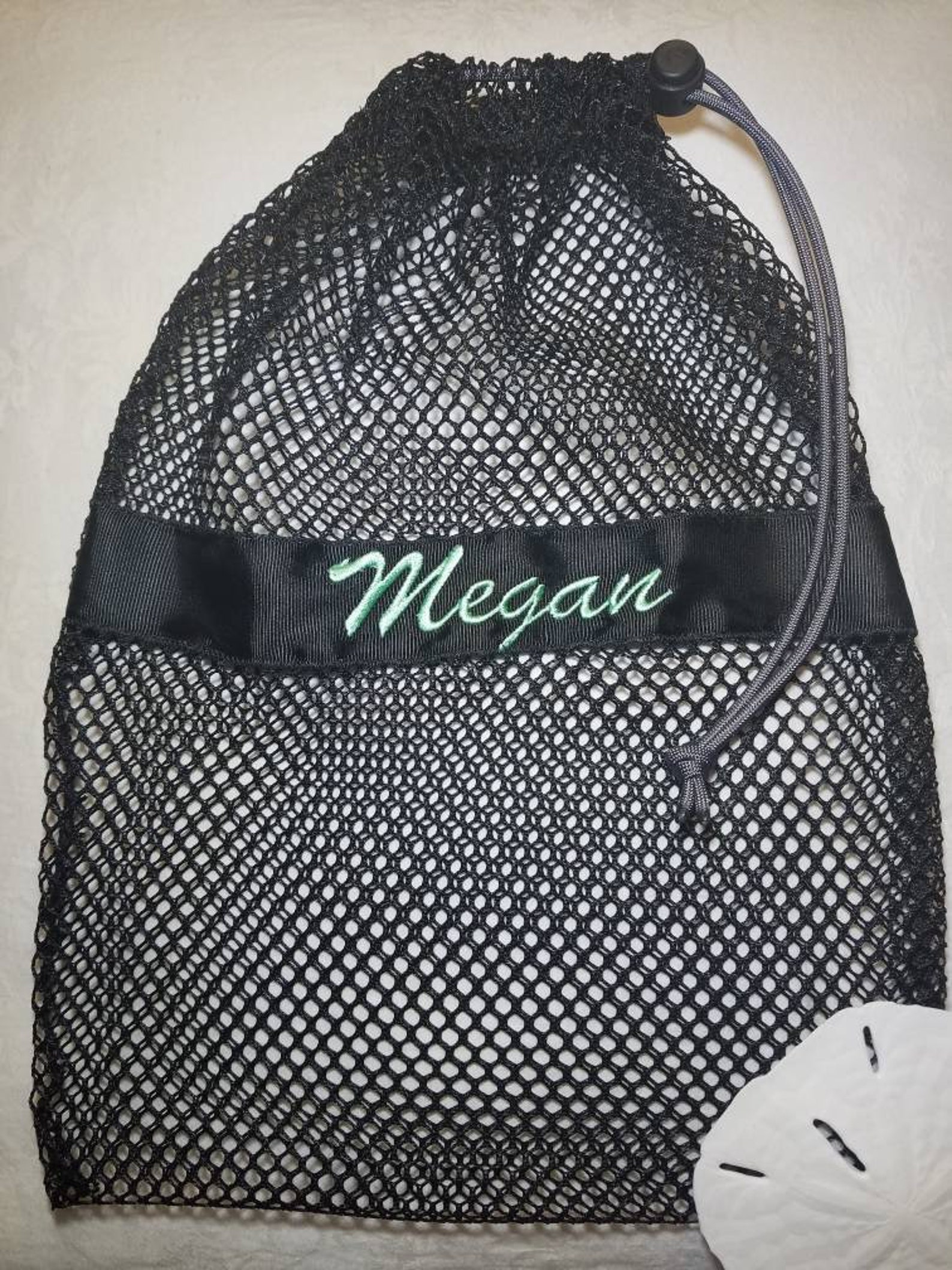 mesh drawstring black large ballet jazz tap pointe shoe glove ditty bag; free shipping within usa; dance team cheer softball gif