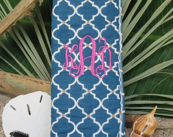 Flat / Curling Iron Bag with Monogram Included - NAVY Blue -FREE Shipping within USA; Bridesmaid Easter Graduation Mothers Day Gift under 25