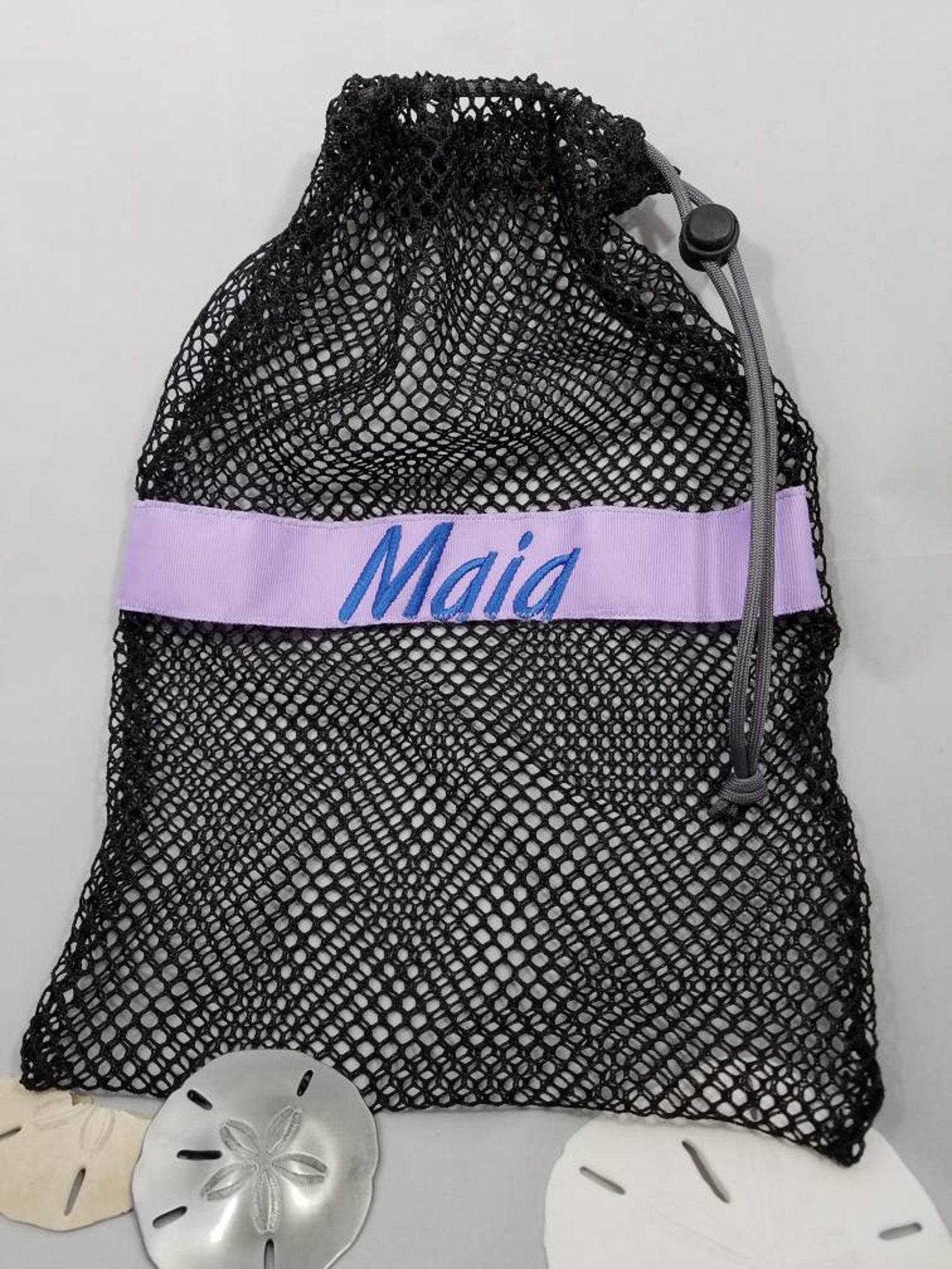 mesh drawstring black large ballet jazz tap pointe shoe glove ditty bag; free shipping within usa; dance team cheer softball gif