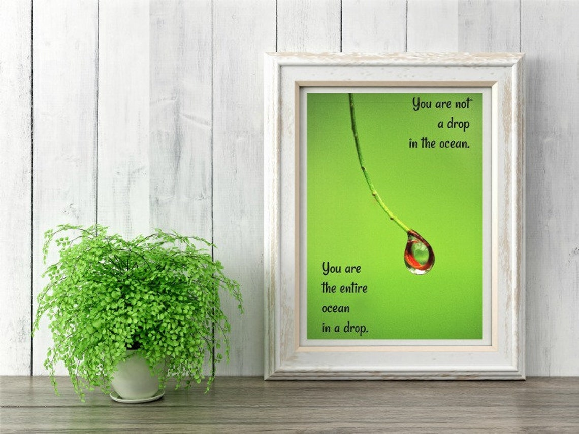 Rumi Quotes Nature Art Nature Photography Green Wall Decor Etsy