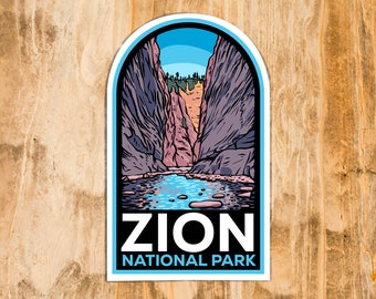 Zion National Park The Narrows Stickers