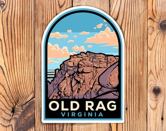 Old Rag Mountain Virginia Stickers