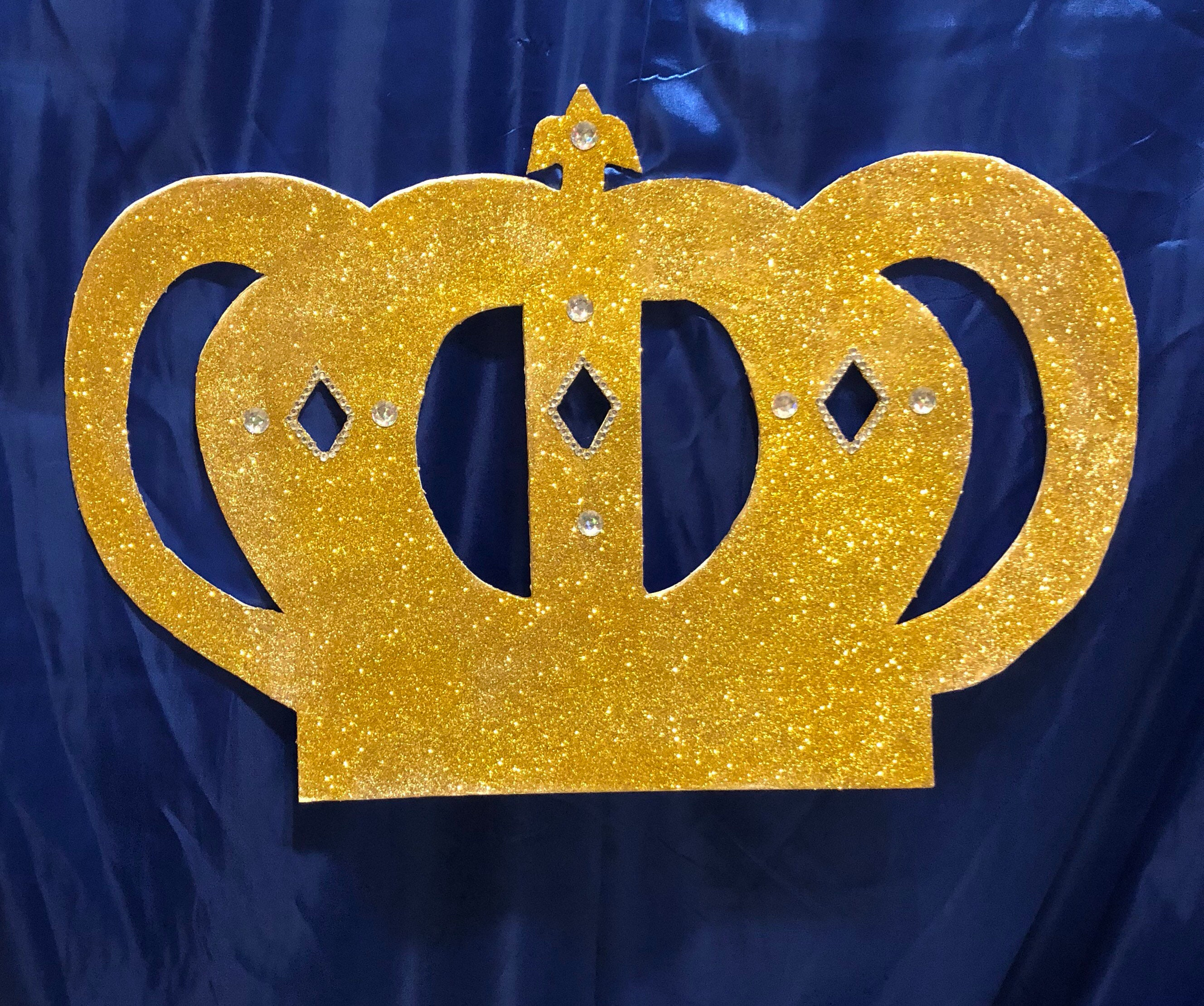Large crown backdrop gold or any color hand cut | Etsy