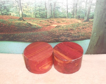 Eastern Red Cedar  2 pc, 5 x 3  turning wood bowl, small project blank  #68566