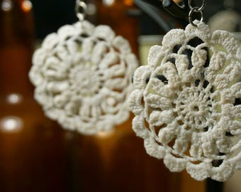 Upcycled Vintage Doily Earrings