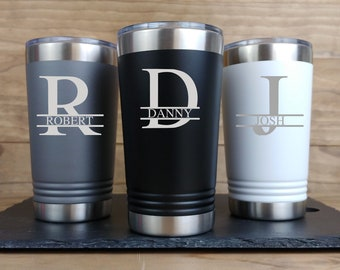 Personalized Etched Insulated Stainless Steel 20oz Tumbler Groomsmen GiftsWedding Party FavorInsulated Coffee CupEngraved Tumbler OE
