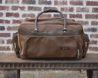 f95ae02834e Personalized Mens Leather Bag, Groomsman Gift, leather tote, gym bag, carry  on, leather duffle bag, groomsmen gift,