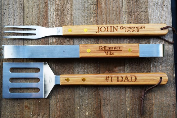 Personalized Grilling Tools Personalized Bbq Set Bbq Set Etsy