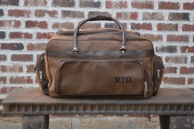 Personalized Mens Leather Bag Groomsman Gift leather tote image 0