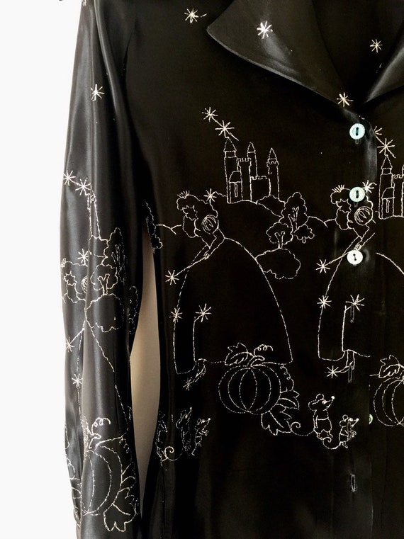 Cinderella embroidered disco blouse
