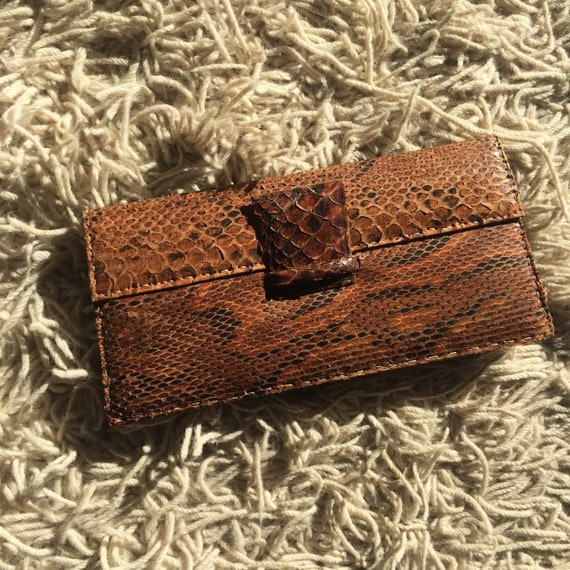 1940's snake skin clutch handbag