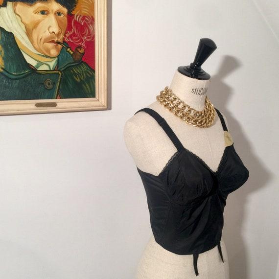 1950s longline corset bullet bra