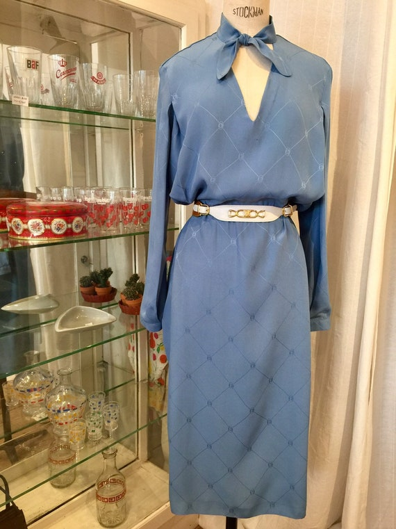 Christian Dior 1970s silk dress