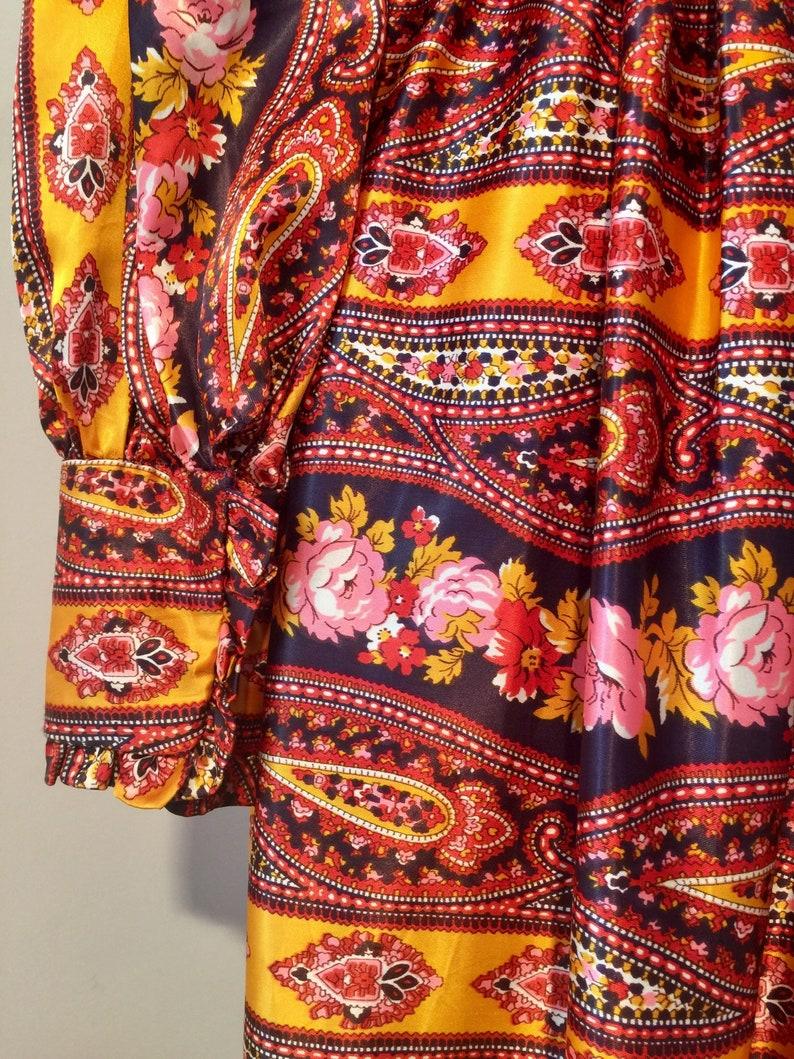 Satin boho gown