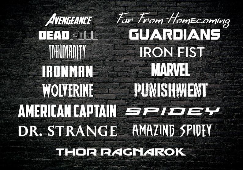 Download Fandom Font Pack 17 Marvel Universe Fonts 60 Font | Etsy