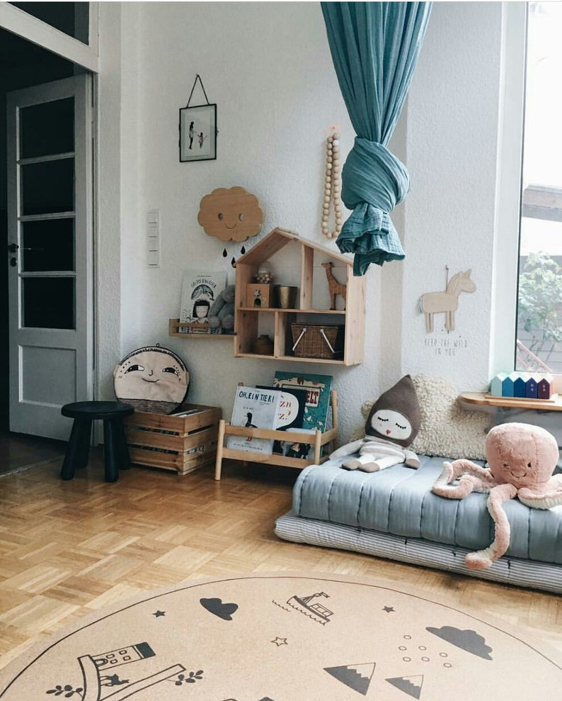 Genial Baby Boy Nursery, Round Area Rugs, Kids Decor, Baby Shower, Kids Room,  Minimalist Design, Hygge, Scandinavian Style, Cork, 130 Cm, 4u002726 Feet