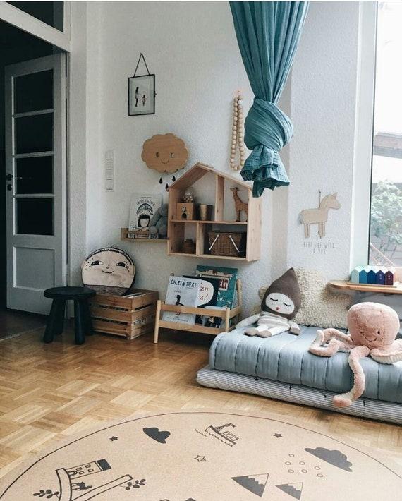 Baby Madchen Kinderzimmer Teppich Runde Teppiche Kinder Etsy