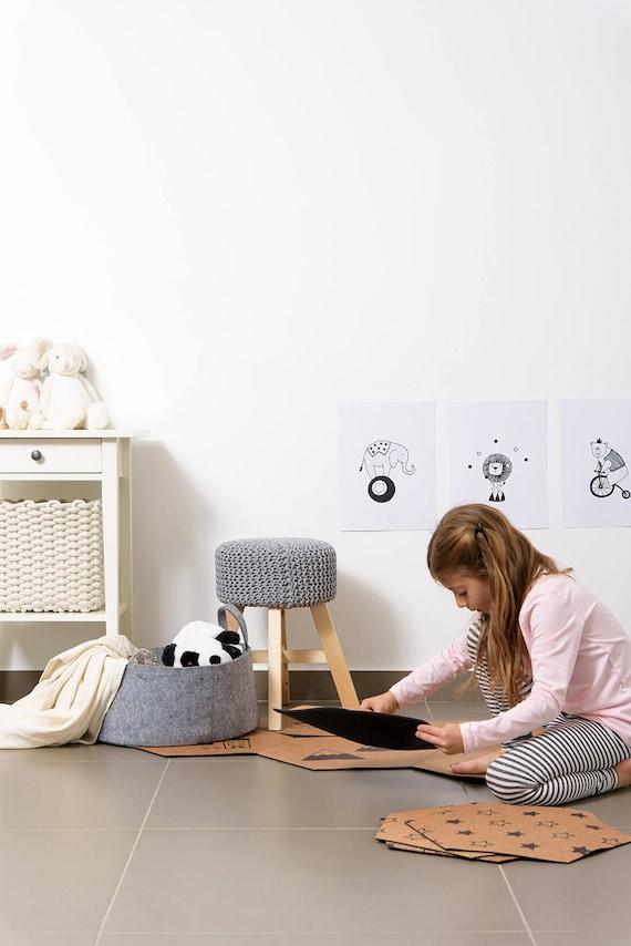 rooga personal cork mat set 40 cm inches etsy. Black Bedroom Furniture Sets. Home Design Ideas