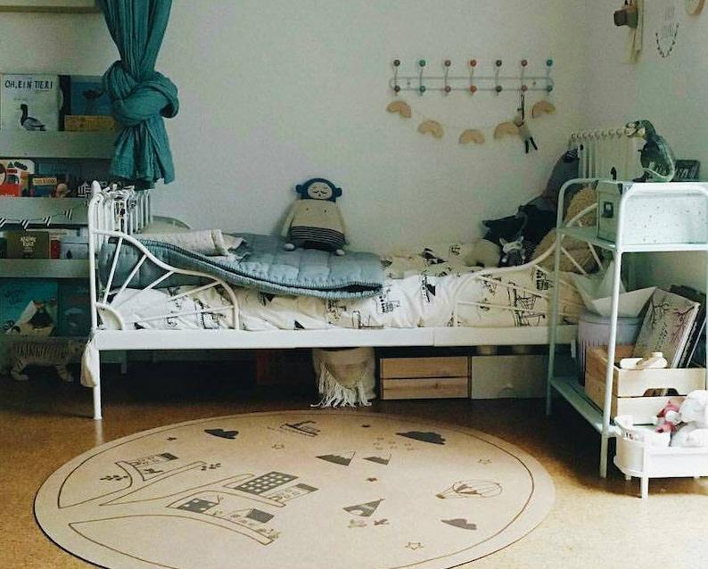 Chambre denfant bébé garçon rond tapis enfant décor shower | Etsy