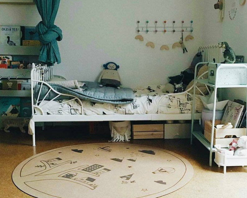 Baby Boy Nursery Round Area Rugs Kids Decor Baby Shower | Etsy