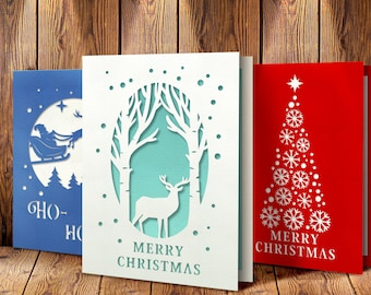 Christmas Card Svg Etsy
