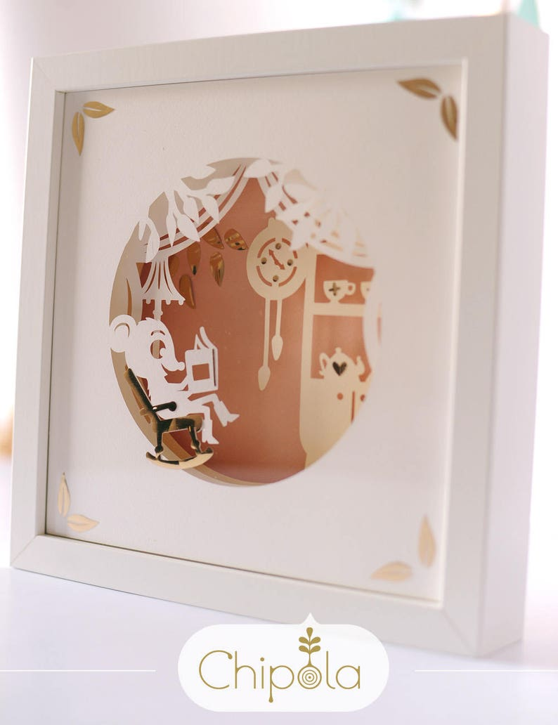 Nursery Decor Baby Shower Gift Diy Shadow Box Cute Animal Etsy