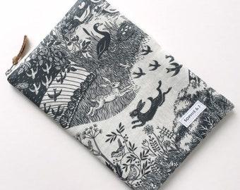 "Grey Concord Heartwood Scenic print padded zipped case for iPad Mini / iPad / iPad Pro 11""  12.9""/ iPad Air"