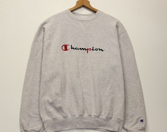ee4b0674 Vintage Champion Spell Out Sweatshirt Crewneck Size Large