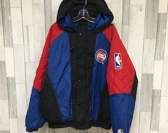 751ac76c4170 Vintage Detroit Pistons Starter Puffer Jacket Size XL