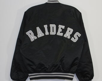 09b249cfabe Vintage Oakland Raiders Chalk Line Satin Jacket Size Small